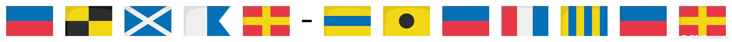 Elmar-Dietger im Flaggenalphabet