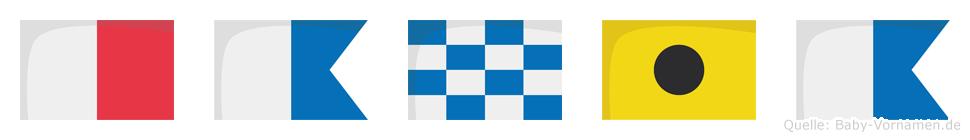 Hania im Flaggenalphabet