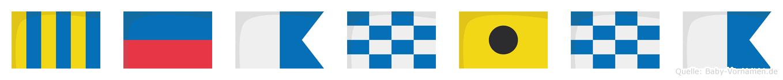 Geanina im Flaggenalphabet
