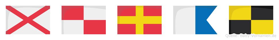 Vural im Flaggenalphabet