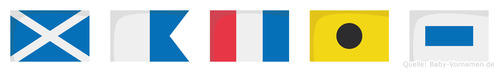 Matis im Flaggenalphabet
