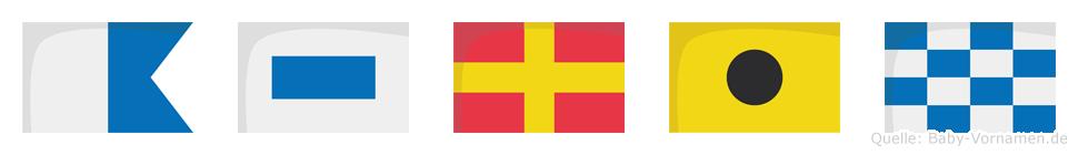 Asrin im Flaggenalphabet