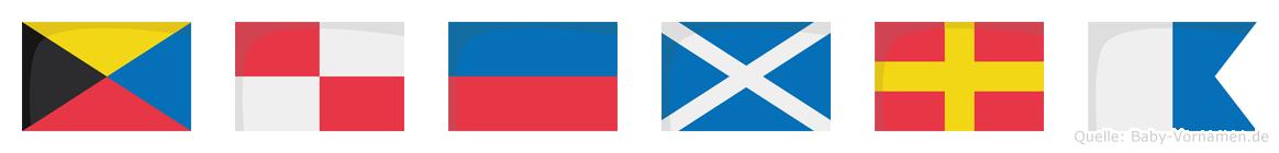 Zümra im Flaggenalphabet