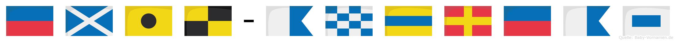 Emil-Andreas im Flaggenalphabet
