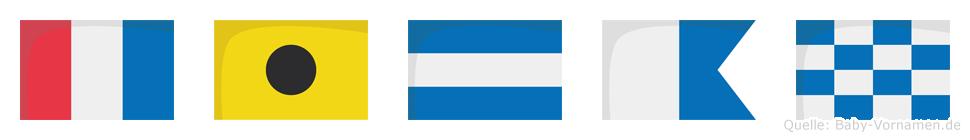 Tijan im Flaggenalphabet
