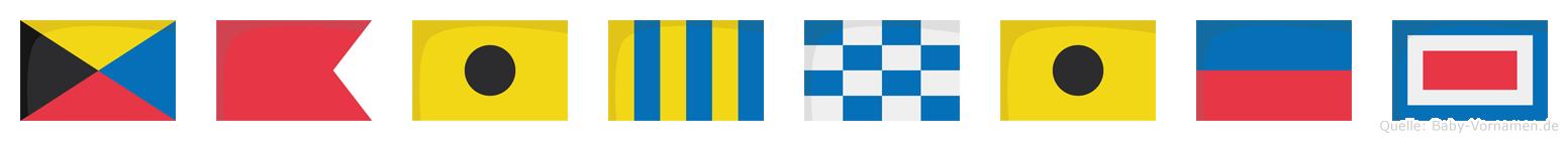 Zbigniew im Flaggenalphabet