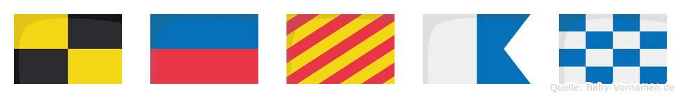 Leyan im Flaggenalphabet