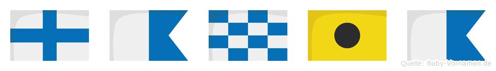 Xania im Flaggenalphabet