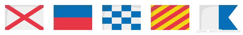 Venya im Flaggenalphabet