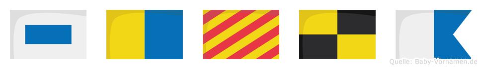 Skyla im Flaggenalphabet