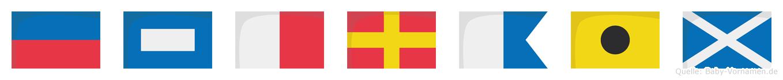 Ephraim im Flaggenalphabet