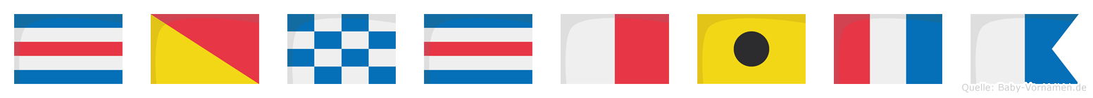 Conchita im Flaggenalphabet