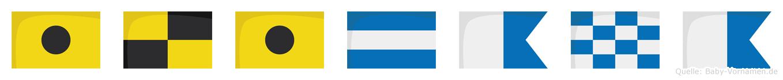 Ilijana im Flaggenalphabet