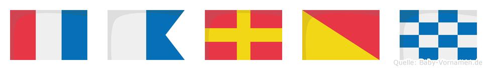 Taron im Flaggenalphabet