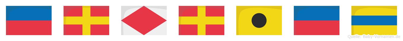 Erfried im Flaggenalphabet