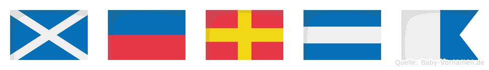 Merja im Flaggenalphabet