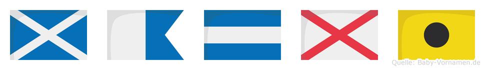 Majvi im Flaggenalphabet