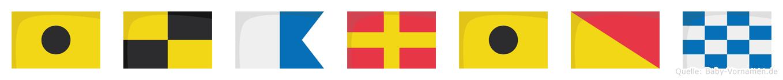 Ilarion im Flaggenalphabet
