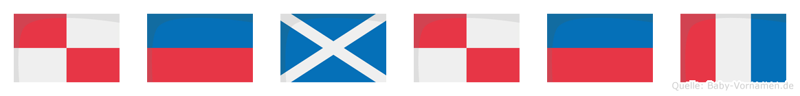Ümüt im Flaggenalphabet