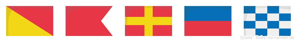Obren im Flaggenalphabet