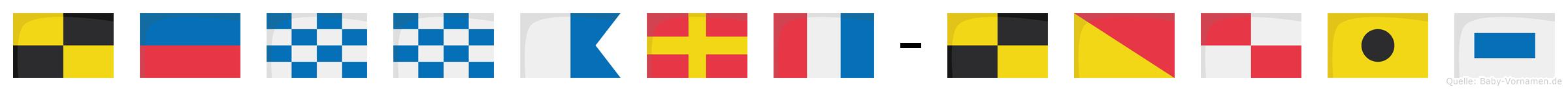 Lennart-Louis im Flaggenalphabet