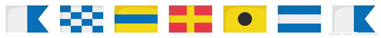 Andrija im Flaggenalphabet