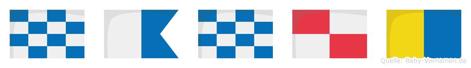 Nanuk im Flaggenalphabet