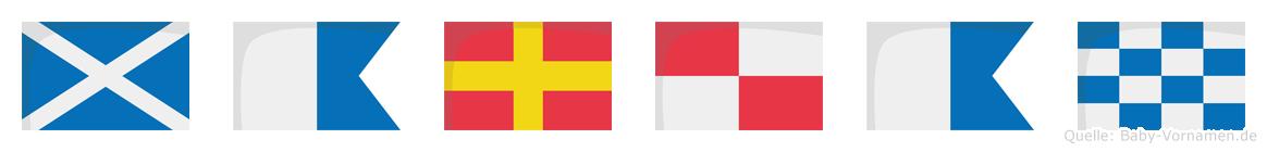 Maruan im Flaggenalphabet
