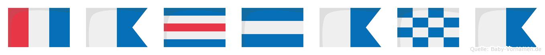 Tacjana im Flaggenalphabet
