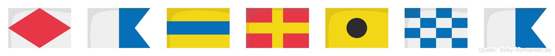Fadrina im Flaggenalphabet