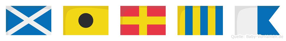 Mirga im Flaggenalphabet