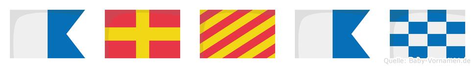 Aryan im Flaggenalphabet