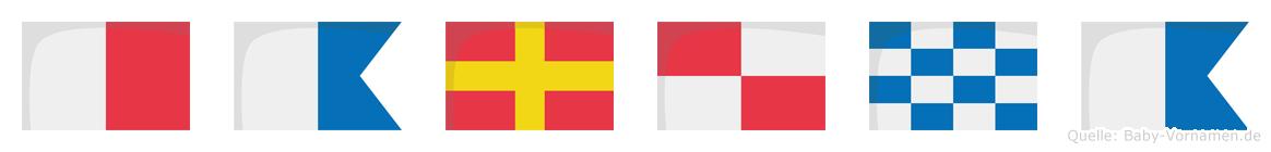 Haruna im Flaggenalphabet