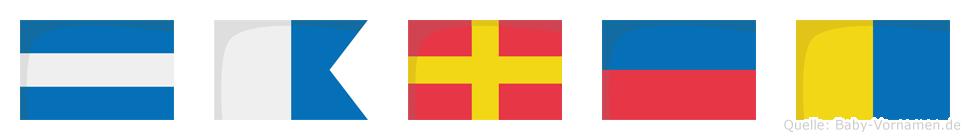 Jarek im Flaggenalphabet