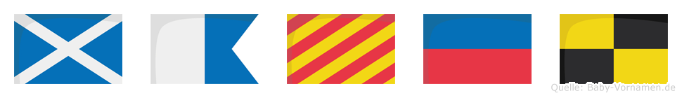 Mayel im Flaggenalphabet