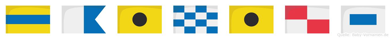 Dainius im Flaggenalphabet