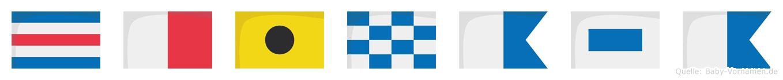 Chinasa im Flaggenalphabet
