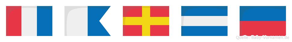 Tarje im Flaggenalphabet
