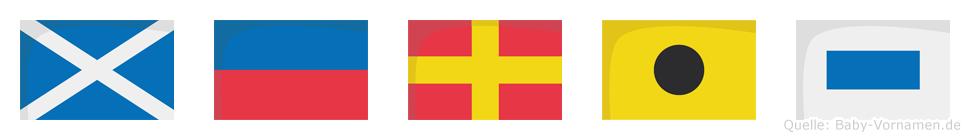 Meris im Flaggenalphabet