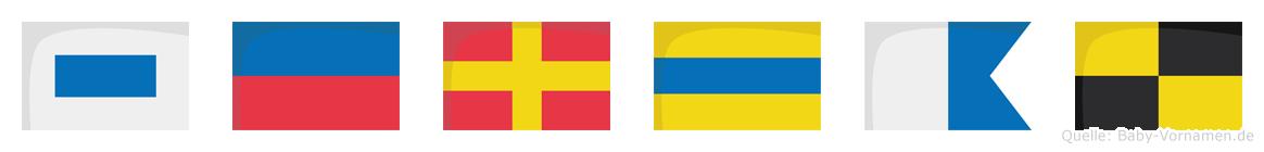 Serdal im Flaggenalphabet