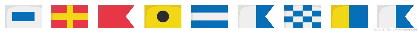 Srbijanka im Flaggenalphabet