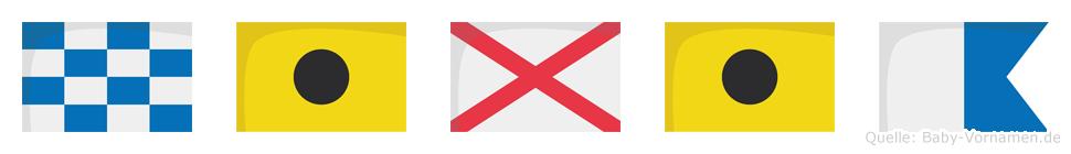 Nivia im Flaggenalphabet
