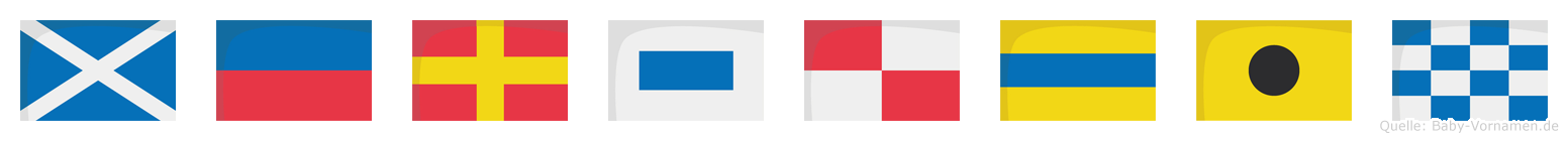 Mersudin im Flaggenalphabet