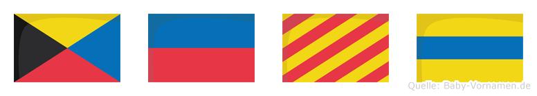 Zeyd im Flaggenalphabet