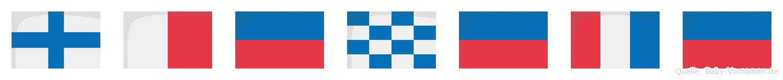 Xhenete im Flaggenalphabet