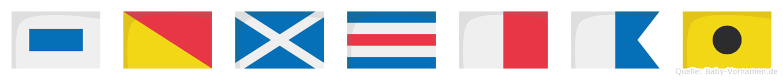 Somchai im Flaggenalphabet