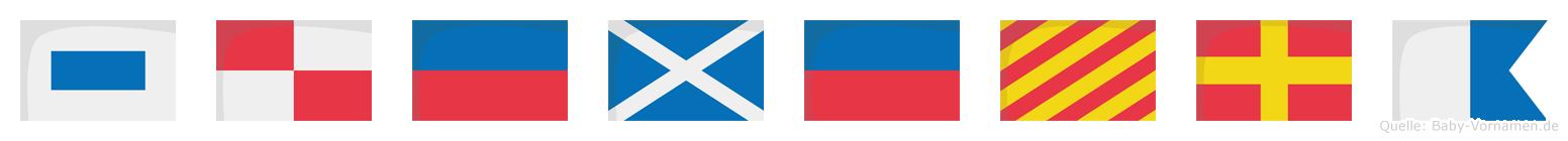 Sümeyra im Flaggenalphabet