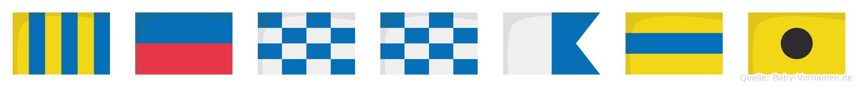 Gennadi im Flaggenalphabet