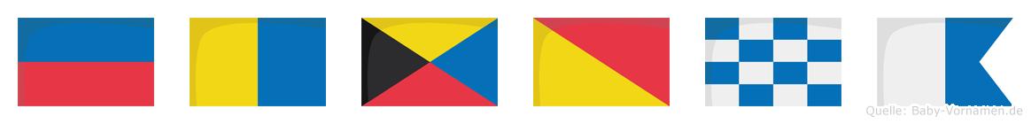 Ekzona im Flaggenalphabet