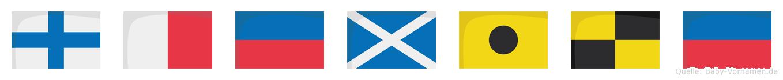 Xhemile im Flaggenalphabet